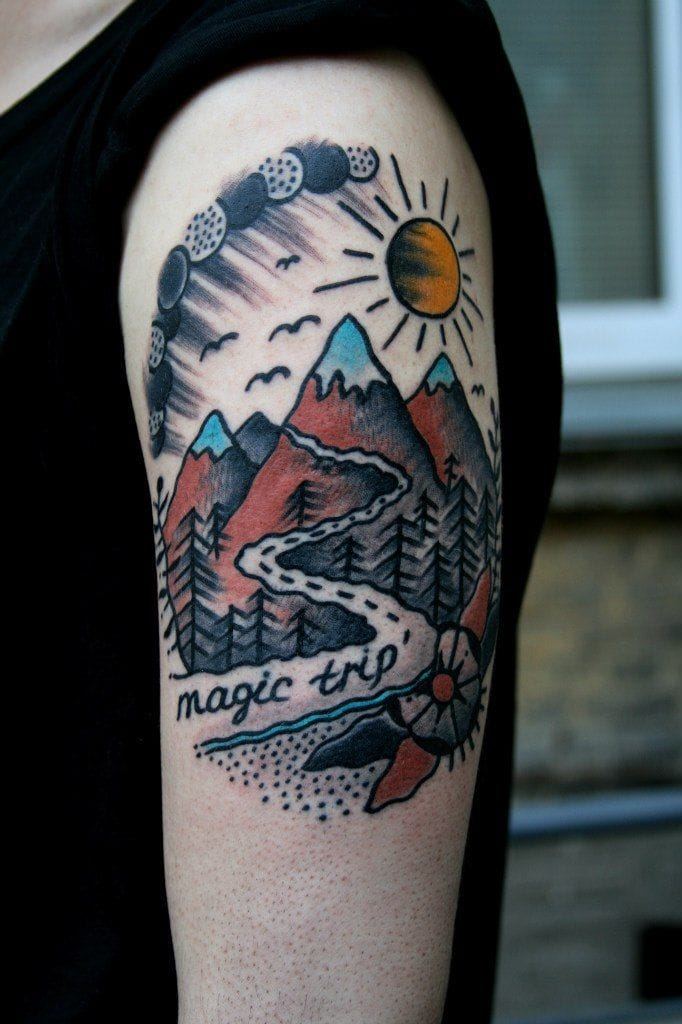 Also a popular tattoo subject for travelers