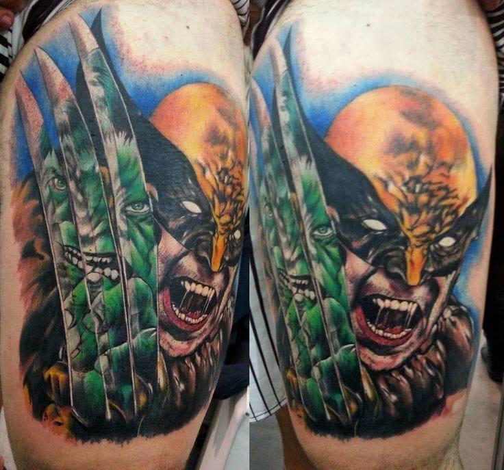 Wolverine x Hulk Tattoo