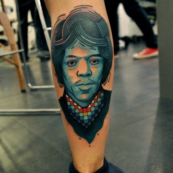 Trippy Hendrix tattoo