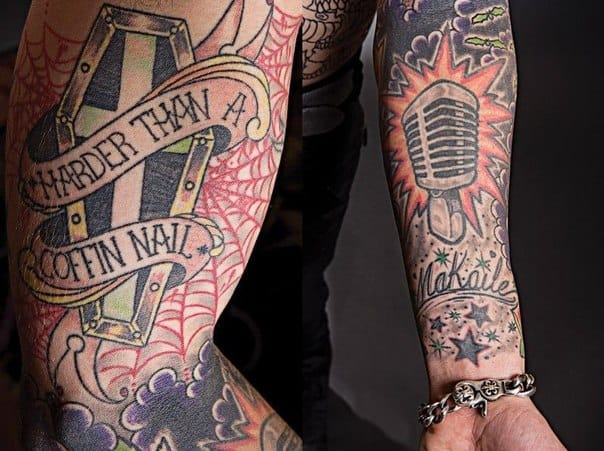 One of his favourites the Microphone Tattoo