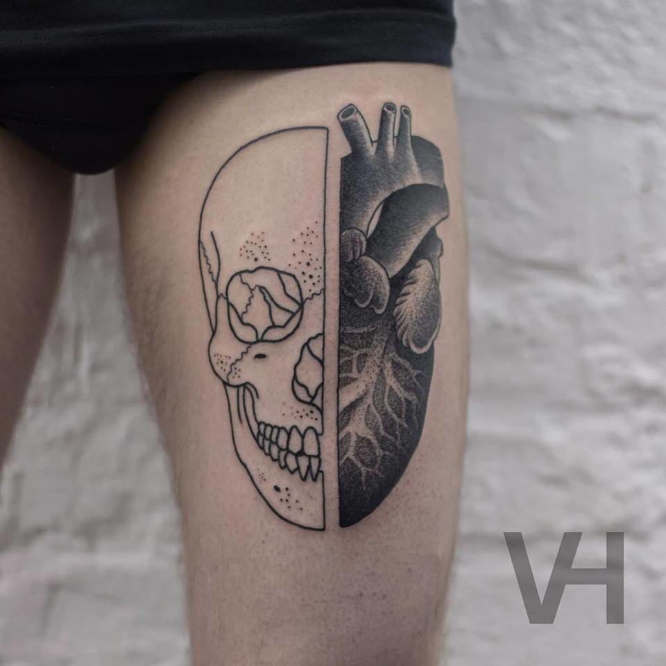 Symmetrical Inspired Tattoo By Valentin Hirsch