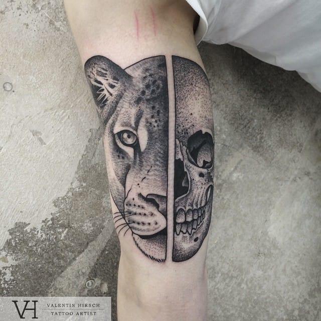 Badass Lioness Skull
