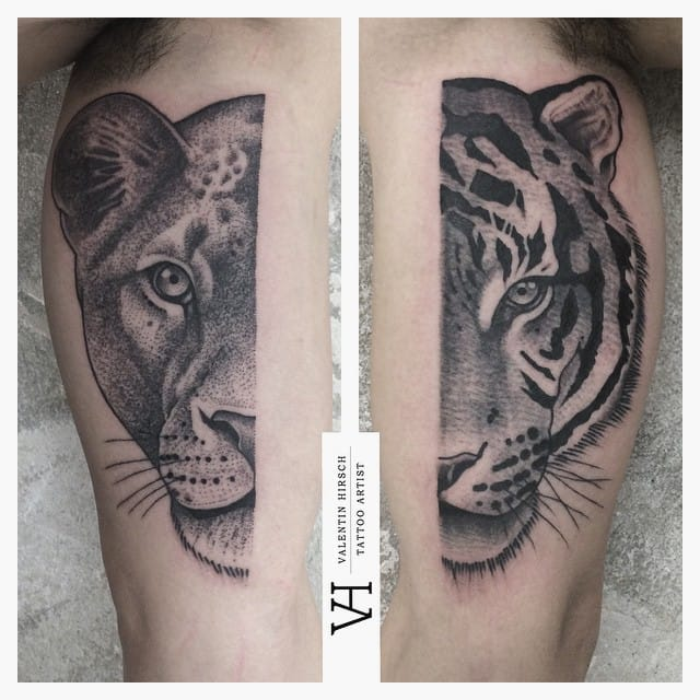 Great Lioness Tiger Piece
