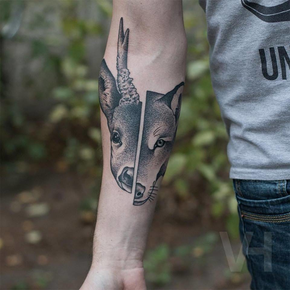 Inspired Predator Prey Tattoo