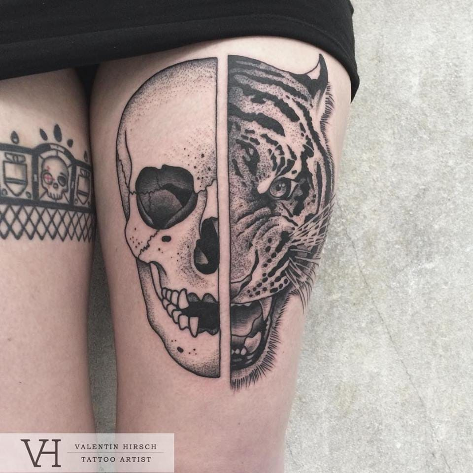 Symmetrical Inspired Tattoo By Valentin Hirsch
