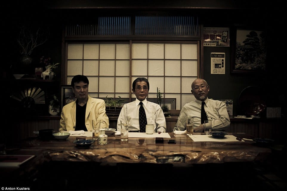 A photo of Yakuza bosses, a very rare opportunity. Photo by Anton Kusters