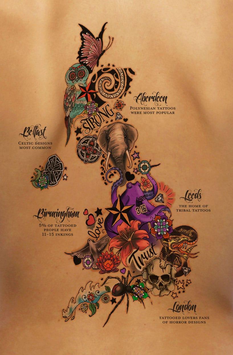 UK tattoo map