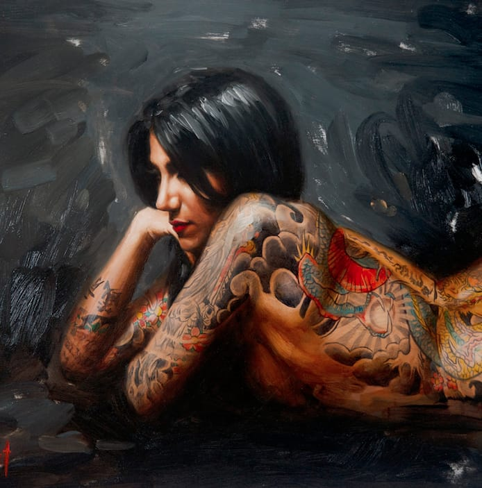 Stunning Oil Paintings Of Tattooed Women By Chris Guest