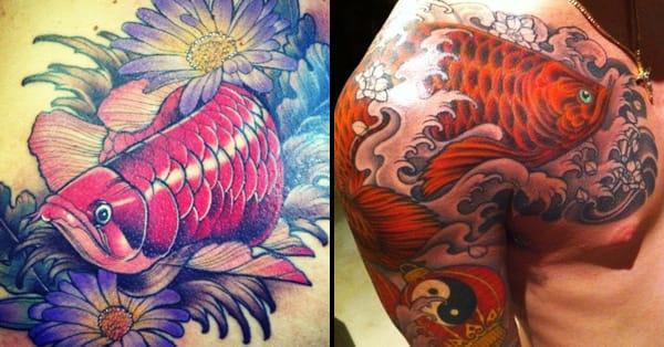 6 Super Lucky Arowana Tattoos | Tattoodo