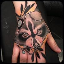 Epic Hand Tattoo by Kari Grat
