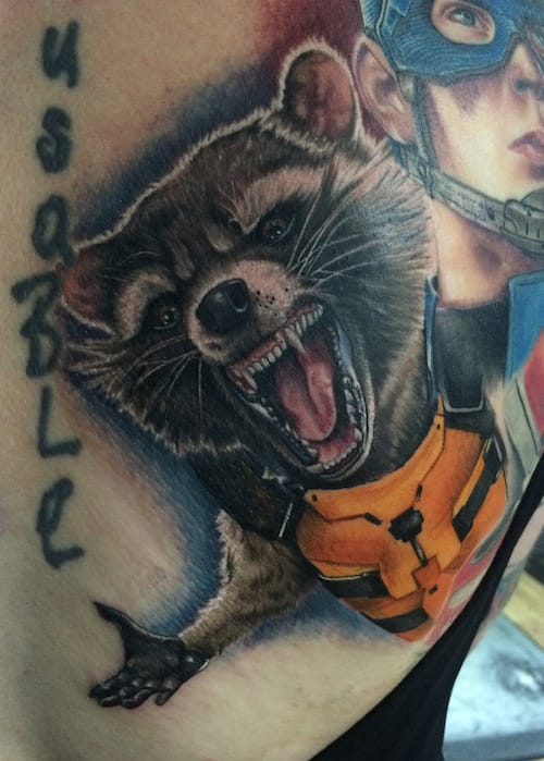 Rocket Raccoon Tattoo by Chris Jones