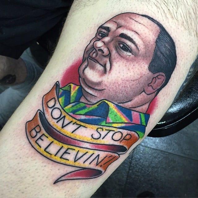 "Sopranos Tattoo, ""Don't stop believin'!"""
