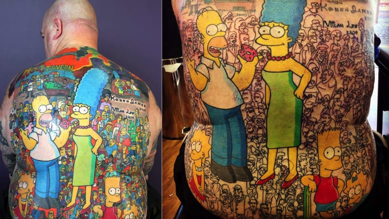 The Guy With Over 200 Simpsons Tattoos