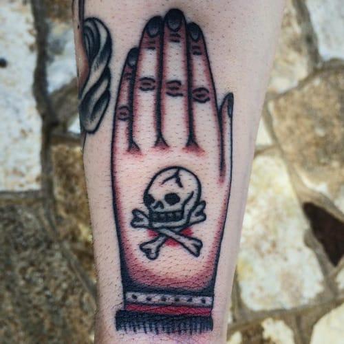 Hand Skull Tattoo by Ivan Antonyshev