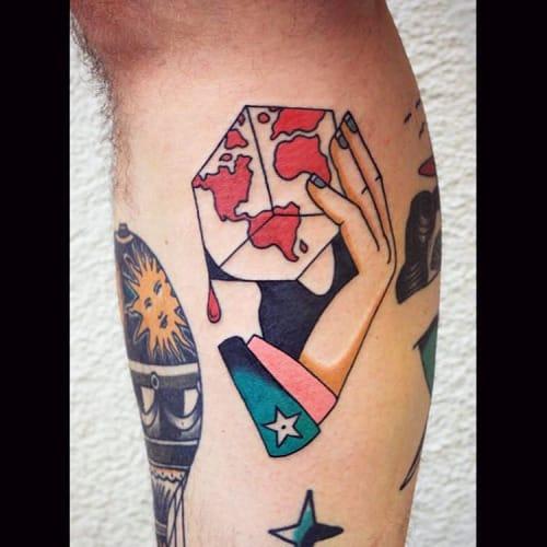 Hand World Tattoo by Patryk Hilton