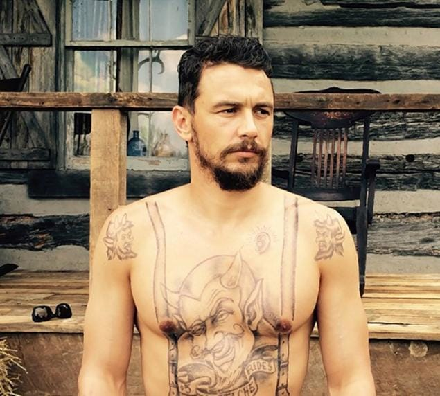 James Franco with tattoos