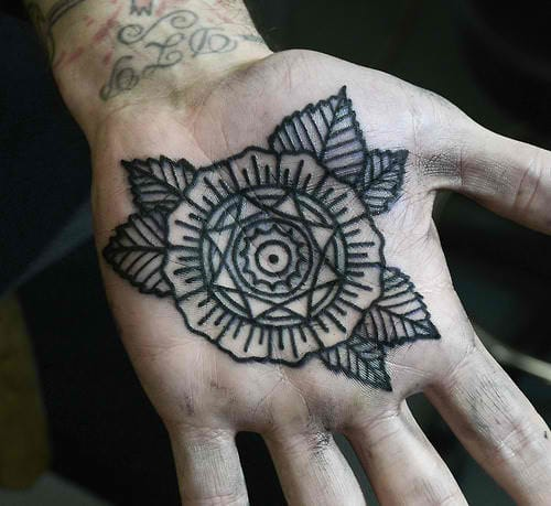 Keep it simple & sophisticated. Mandala flower by Philip Yarnell.