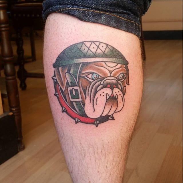 Old School Bulldog Tattoo