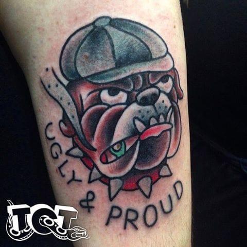 Bulldog Tattoo by True Colors Tattoo