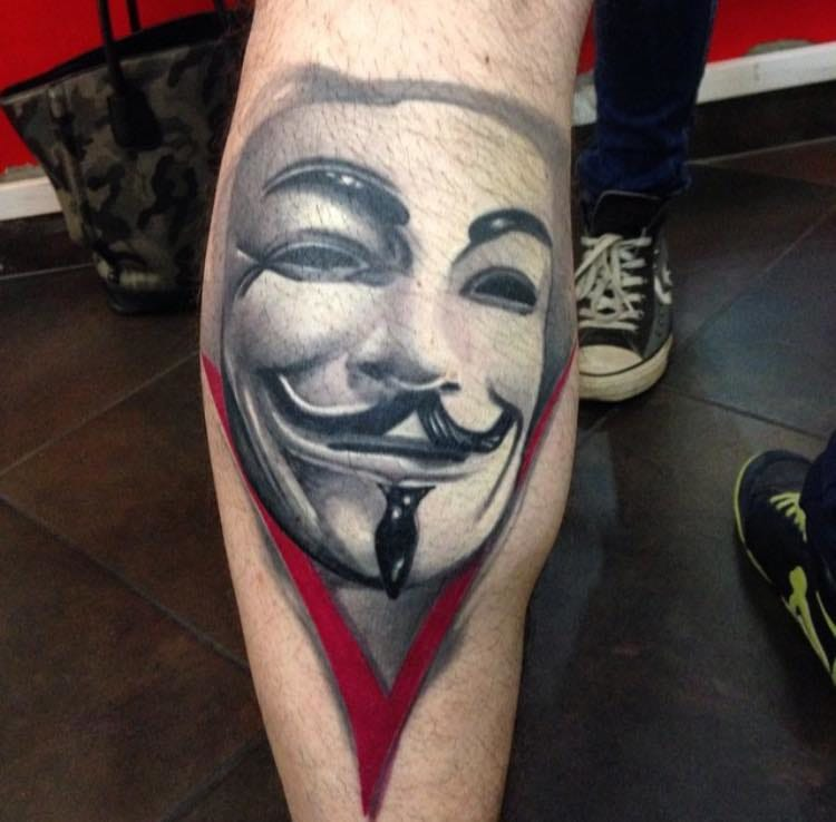 Remember The 5Th Of November With These Guy Fawkes Mask Tattoos