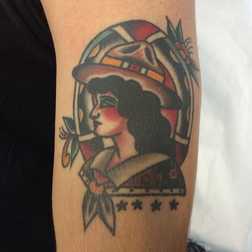 Traditional Tattoo by Fergus Simms