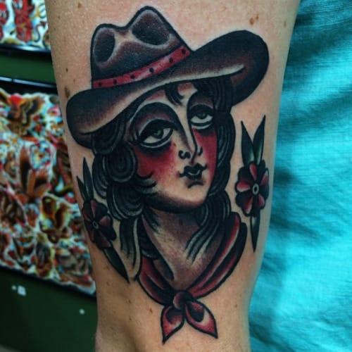 Cowgirl Tattoo by Ivan Antonyshev