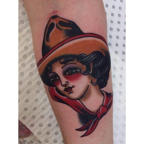 Cowgirl Tattoo by Jess Swaffer