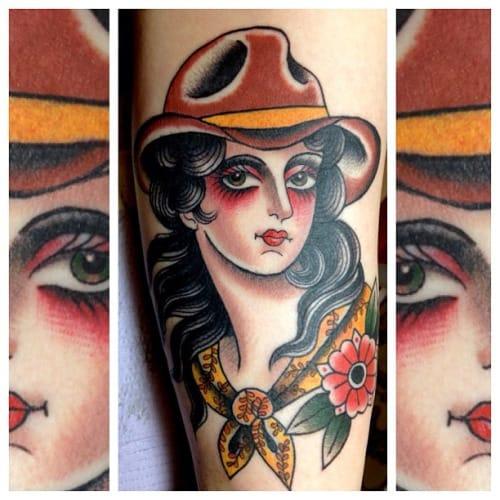Cowgirl Tattoo by Marie Sena