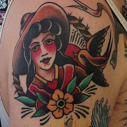 Cowgirl Tattoo by Omar M