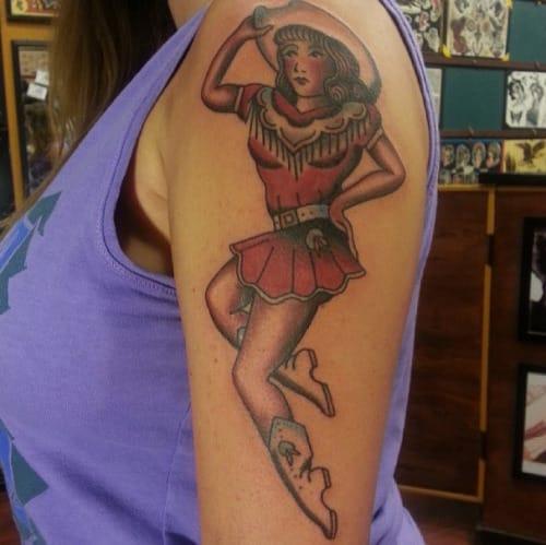 Cowgirl Tattoo by Matthew Talley