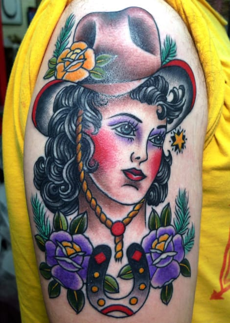 Cowgirl Tattoo by Virginia Elwood