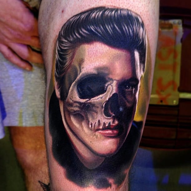 Elvis Presley Skull Tattoo