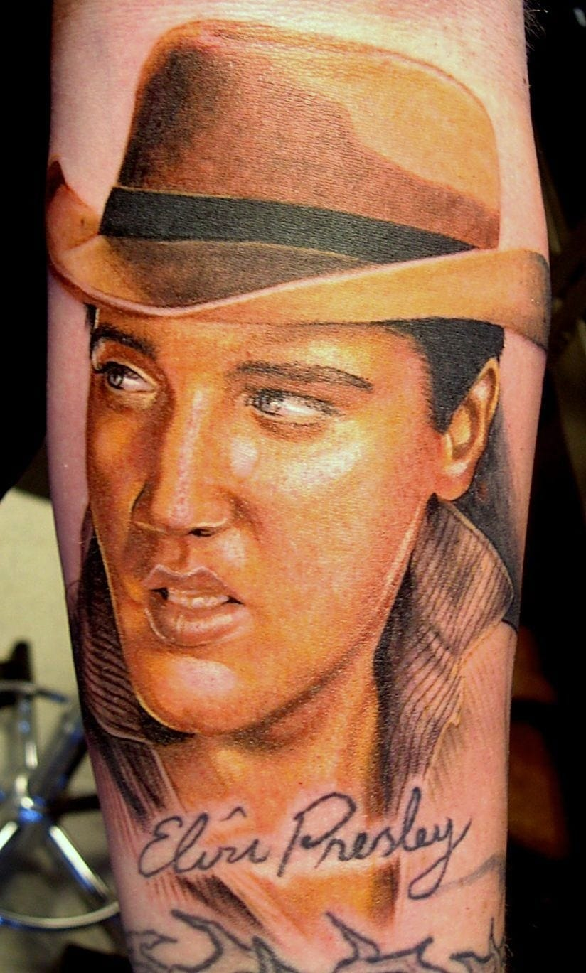 Elvis Presley Portrait Tattoo