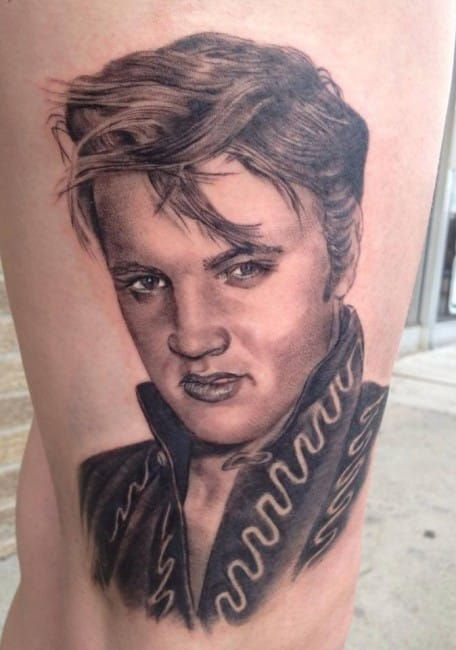 Young Elvis by Rodney Rose
