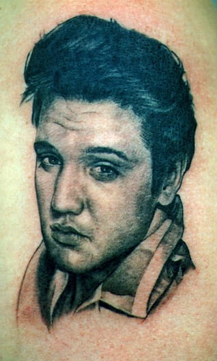 Elvis Tattoo by Tom Renshaw