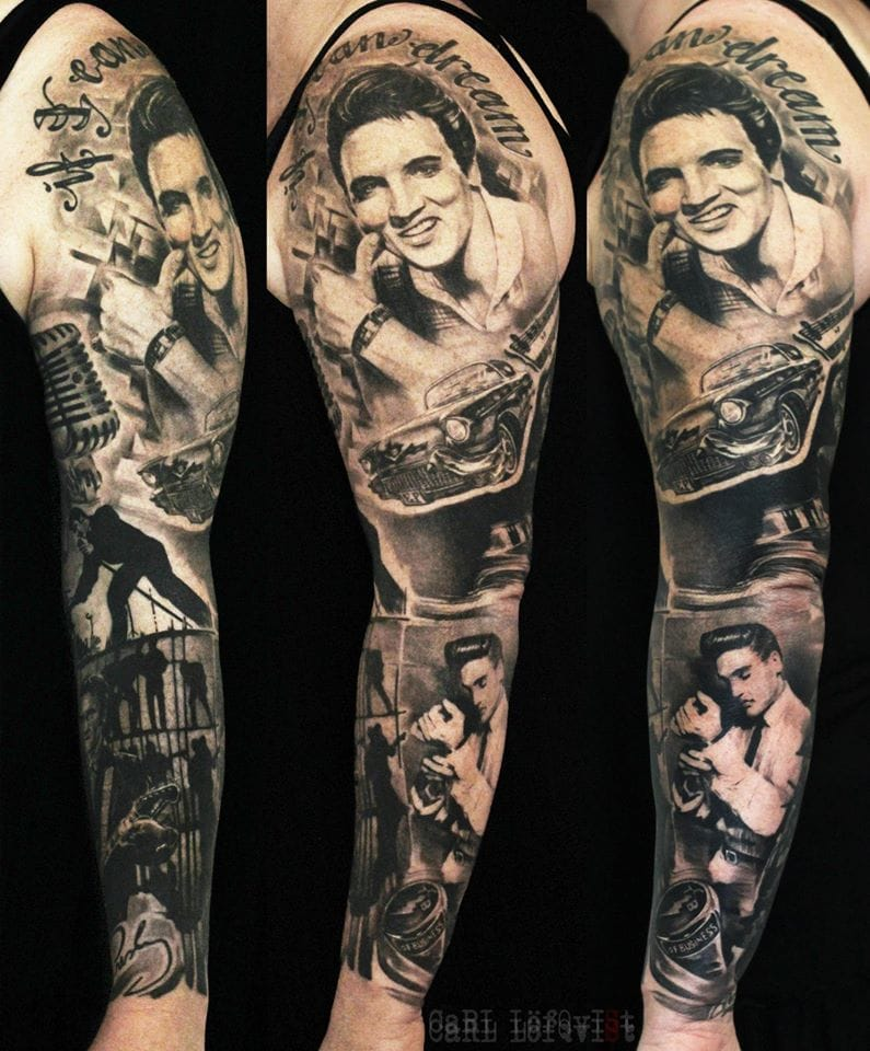 Epic Elvis Sleeve by Carl Lofqvist