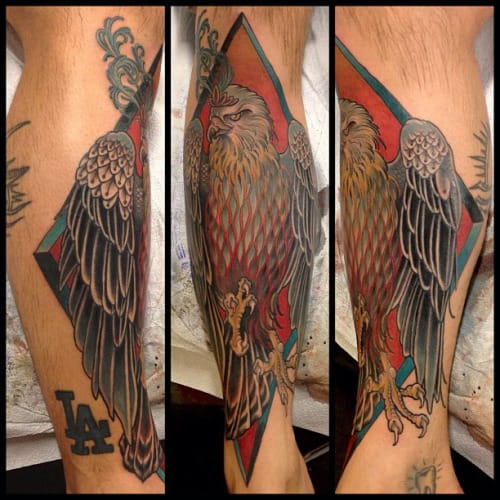 Falcon Tattoo by Amulet Tattoos