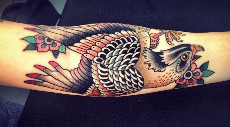 Falcon Tattoo by Lina Stigsson