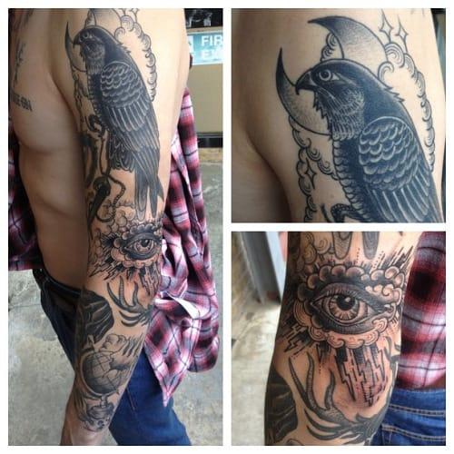 Falcon Tattoo by Scott Move