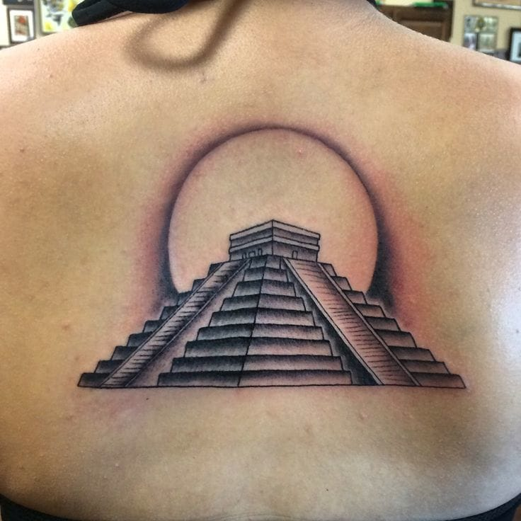 Pyramid tattoo, unknown artist