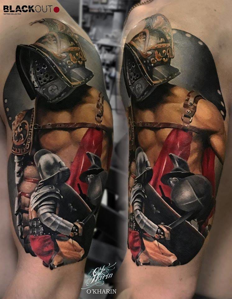 15 Invincible Gladiator Tattoos