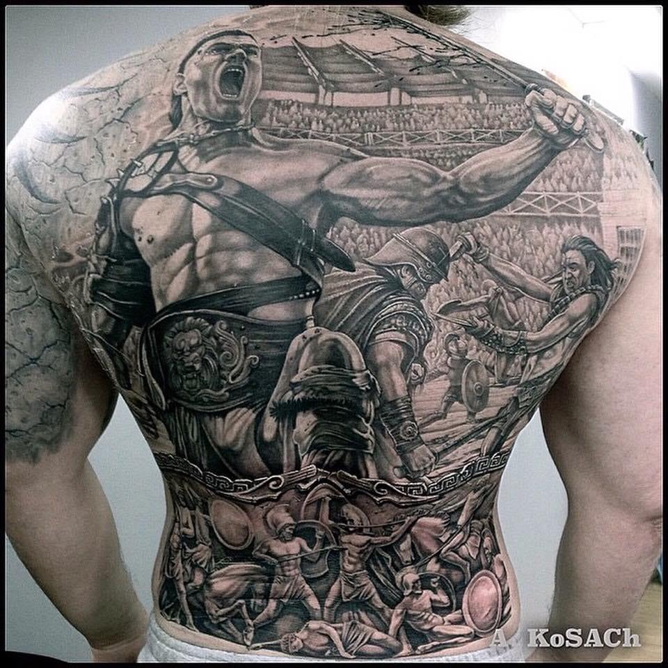 Badass backpiece by Alexandr Kosach...