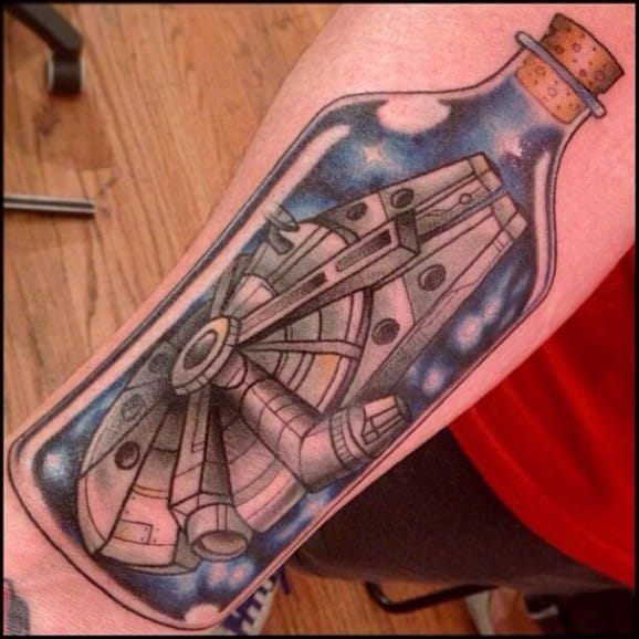 Millennium Falcon Tattoo by Richard Smith