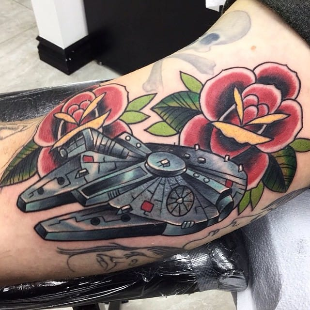 Millennium Falcon Tattoo by Ignacio Flores