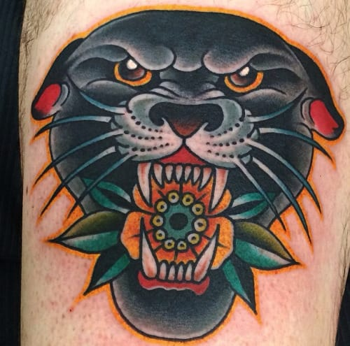 22 Bold Panther Head Tattoos