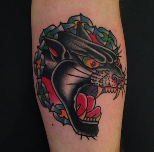 Fierce Panther Head by Chuck Donaghue