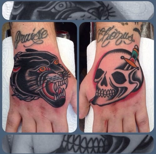 Awesome Hand Tattoos by Nick Mayes