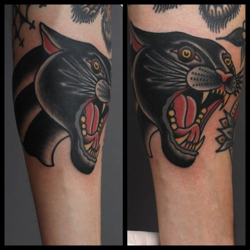 Panther Head Tattoo by Tony Nilsson
