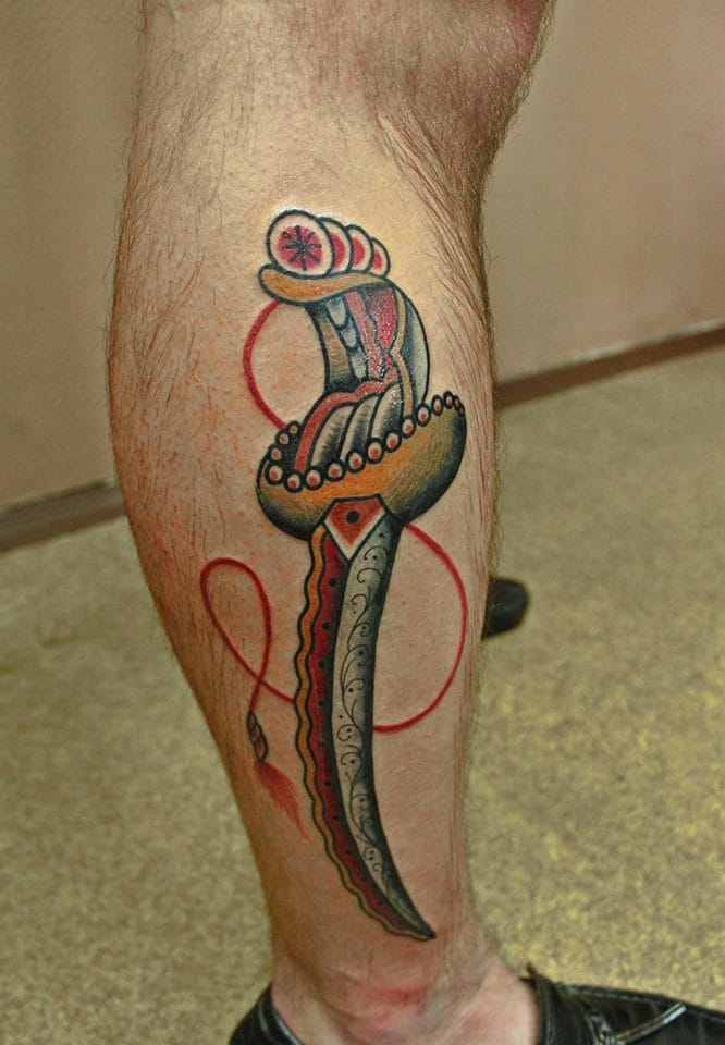 Another Great Dagger Tattoo