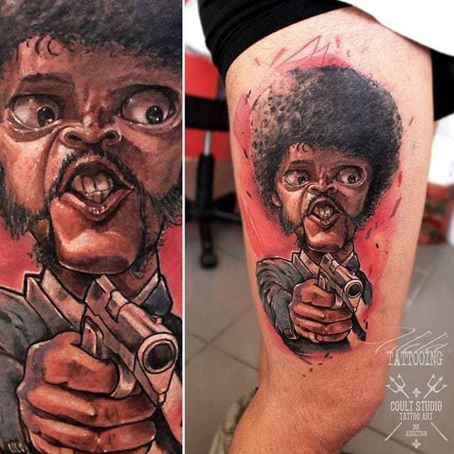 Cool caricature by Vilela Tattooing.